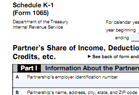 a schedule k-1 provides mlp tax information for owners to use on their personal tax returns